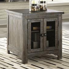 Adair Pine Wood 2 Door Side Table