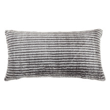 Charcoal Maisy Faux Fur Cushion