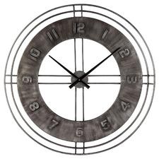 90cm Grey Vintage Styled Yella Aluminium Clock