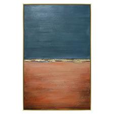 Blue Outland Framed Canvas Wall Art