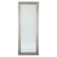 Silver Dolly Acacia Wood Floor Mirror