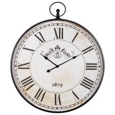 Large Vintage Style Augustus Aluminium Clock