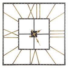 101cm Black Tyrius Aluminium Clock
