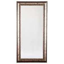 Brass Doreen Acacia Wood Floor Mirror