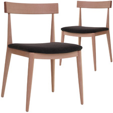 Country 1 Beech Wood Dining Chairs (Set of 2)