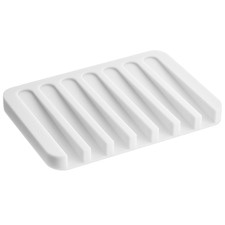 White Tosca Silicone Soap Tray
