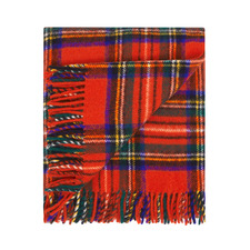 Royal Stewart Merino Wool Throw Rug
