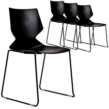 Fly Sled Base Stackable Office Chairs (Set of 4)
