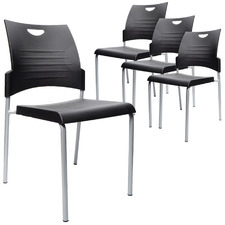 Buro Pronto 4-Legged Stackable Visitor Chairs (Set of 4)