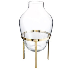 Large Clear Adorn Glass Vase with Stand