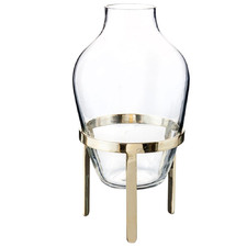 Medium Clear Adorn Glass Vase with Stand