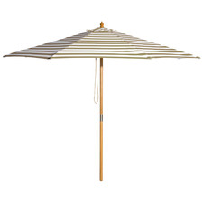 3m Taupe & White Striped Coastal Market Umbrella