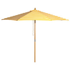 3m Yellow & White Striped Sunny Marbella Market Umbrella