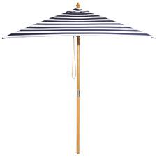 2m Navy & White Striped St. Tropez Market Umbrella