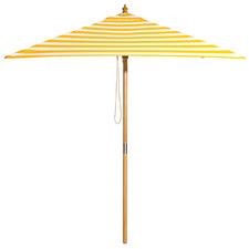 2m Yellow & White Striped Sunny Marbella Market Umbrella