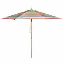 3m Multi-Coloured Striped Signature Market Umbrella