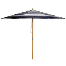 3m Navy & White Striped St. Tropez Market Umbrella