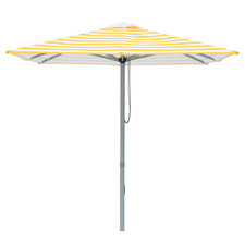 2m Yellow & White Striped Capri Market Umbrella