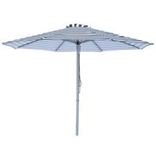 3m Black & White Striped Mont Blanc Market Umbrella
