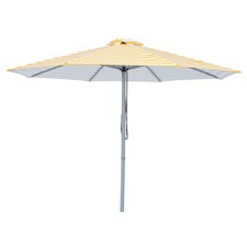 3m Yellow & White Striped Capri Market Umbrella