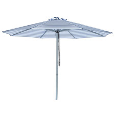 3m Navy & White Striped Santorini Market Umbrella