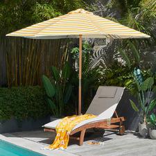 3m Yellow & White Striped Sunny Marbella Market Umbrella