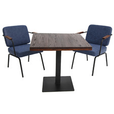 2 Seater Square Callen Dining Table & Chair Set