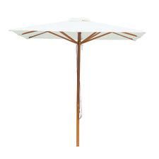 Cream Aluminium Square Market Umbrella