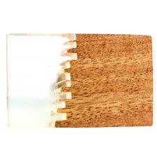 Rectangular Split Jagged Wood & Resin Knob