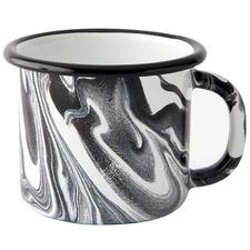 Black Marble 300ml Enamel Mug