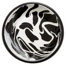 Black Marble 14cm Enamel Plate