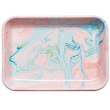 Blush Marble 28cm Enamel Baking Dish