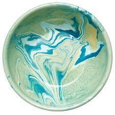 Mint Marble 17cm Enamel Serving Bowl