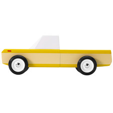 Yellow Longhorn Wooden Toy Car
