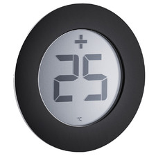 Black & Silver Stainless Steel Digital Thermometer