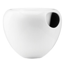 White Ceramic Self Watering Pot
