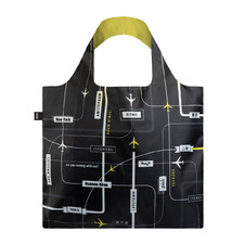 2 Piece Airport Departure Shopping Bag & Pouch Set
