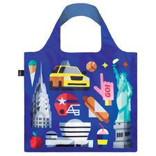 2 Piece New York Shopping Bag & Pouch Set