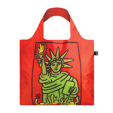 2 Piece Keith Haring New York Shopping Bag & Pouch Set