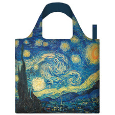 2 Piece Starry Night Shopping Bag & Pouch Set