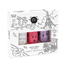Kids' 3 Piece City Nail Polish Gift Box Set