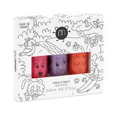 Kids' 3 Piece Jungle Nail Polish Gift Box Set