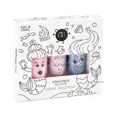 Kids' 3 Piece Mermaid Nail Polish Gift Box Set