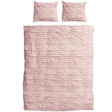 Pink Knit Cotton Quilt Cover Set