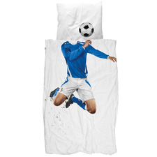 Blue Soccer Champ Cotton Quilt Cover Set