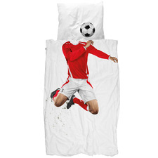 Red Soccer Champ Cotton Quilt Cover Set