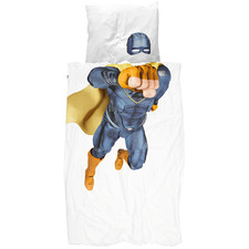 Blue Super Hero King Single Quilt Cover Set