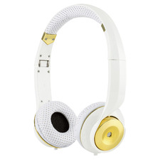 White & Gold PRO XT On-Ear Headphones