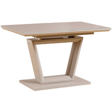 Fenda Glass-Top Extendable Dining Table