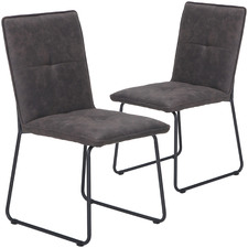 Arvin Suede Dining Chairs (Set of 2)